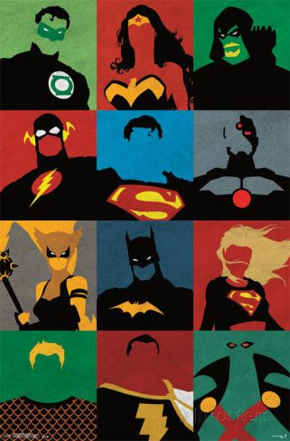 Justice League - Minimalist Photo at AllPosters.com