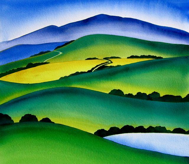 NZ landscape by Raewyn Harris
