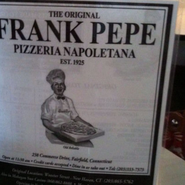 I love Pepe's Pizza. Their brick pizza oven is more than 100 years old. The place has always been in the same family. Long live Pepe's!