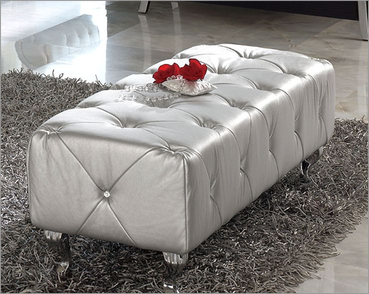 Modern Bedroom Bench Lolita In Silver Finish Made In Spain 33B287tem#:  33B287 Regular Price Part 34