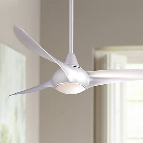 """52"""" Minka Aire Light Wave Silver Ceiling Fan"""