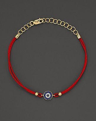 Meira T Diamond, Blue Sapphire And 14K Yellow Gold Evil Eye Bracelet | Bloomingdale's