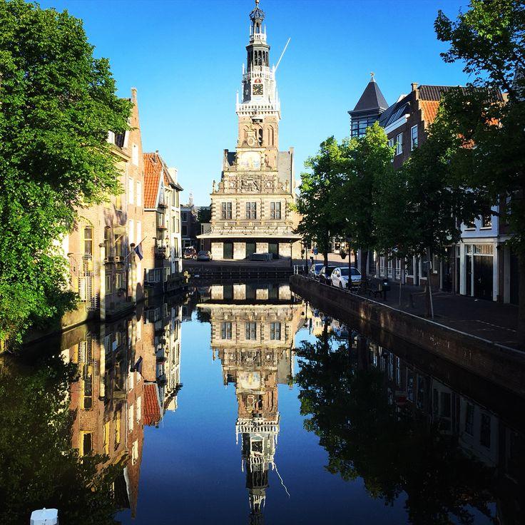 #weerspiegeling #windstil #Waagtoren #Alkmaar