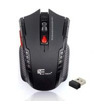 2.4Ghz Mini portable Wireless Optical Gaming Mouse For PC Laptop Features: Mini adapter Plug