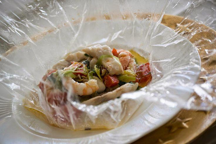 Le ricette del bimby e....molte altre! *CRI*: BRANZINO AL CARTOCCIO TRASPARENTE di Beppe Maffioli