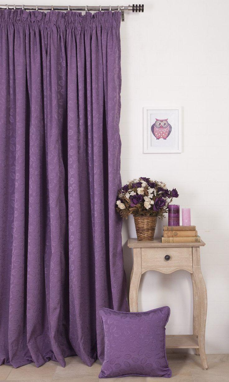 die besten 25 lila vorh nge ideen auf pinterest. Black Bedroom Furniture Sets. Home Design Ideas