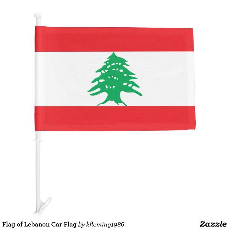 Flag of Lebanon Car Flag