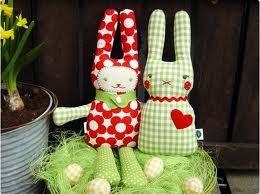 handmade fabric bunnies
