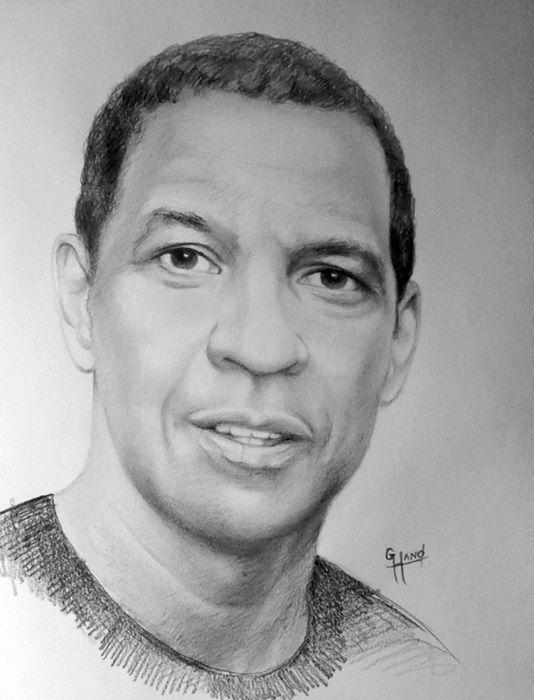 """Denzel Washington .... 11""""x 14""""...Pencil Portrait...by...Greg Hand"""