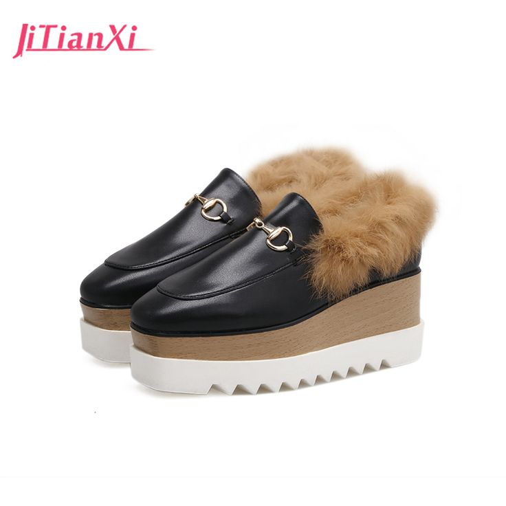 Cheap oxford shoes for women, Buy Quality oxford shoes directly from China slip on platform Suppliers: Oxford Shoes For Women Brand Leather  Flat Platform Winter Shoe Woman Round Toe Slip on  Platform  2017 New Fashion Creepers