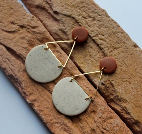 Polymer Clay Earrings, Modern Design Dangles, Granite Earrings. Hoop Earrings,Stud Statement Earrings, Minimalist Earrings .Handmade gift