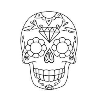 caveira mexicana para colorir - Pesquisa Google
