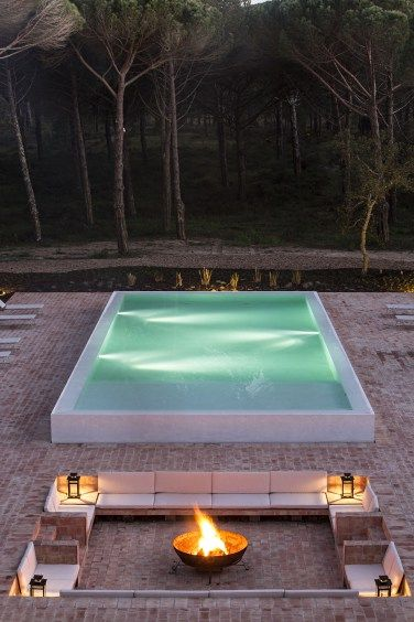 Sublime Comporta, Portugal. Has both indoor and outdoor pool. This is a view of the outdoor pool.