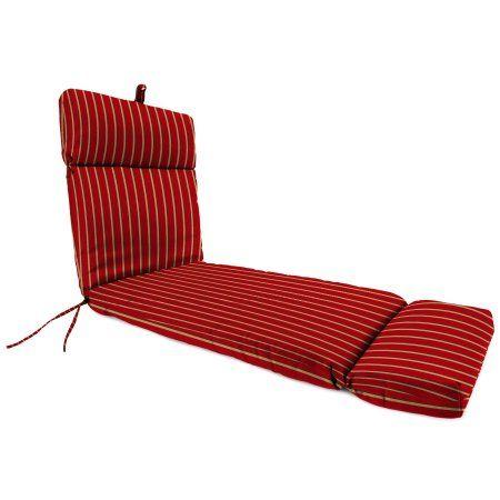 Jordan Manufacturing Outdoor Chaise Cushion, Hardwood Str/Crimson, Red