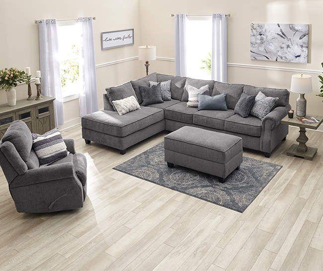 Broyhill Tripoli Living Room Sectional Big Lots In 2020 Big Living Room Decor Living Room Sectional Farm House Living Room