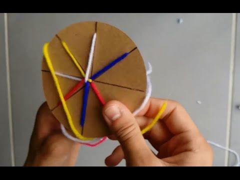 DIY : Bracelet Brésilien Facile rond / Atébas / Tresse indienne - YouTube