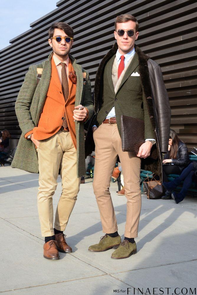 Filippo Cirulli and Filippo Fiora of THETHREEF.  We love your outfit #roundsunglasses