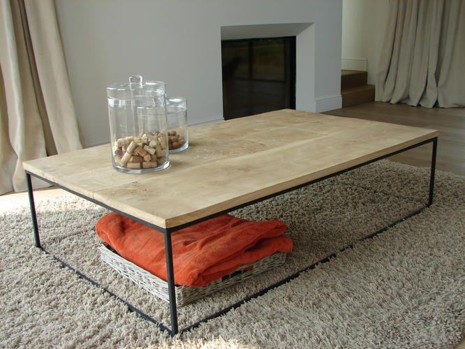salontafel hout metaal  L150 X B60X H35