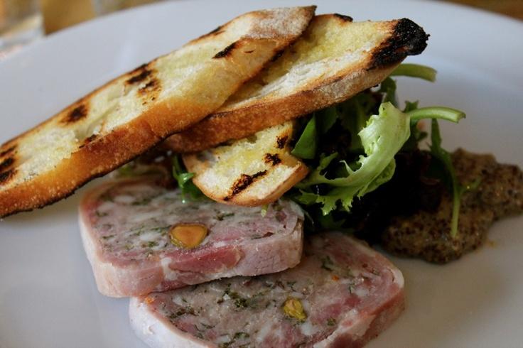 """Pork & Pistachio terrine at Annie Smithers' """"du Fermier"""", in Trentham"""