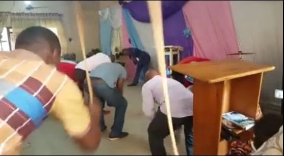 Weird! Church Members Flog the Devil to Death with Canes (Video)