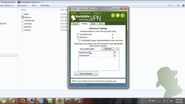 How to protect your traffic against unwanted VPN disconnects?  This tutorial will guide you through the Kill Switch configuration for All In One VPN client.  Ex: Torrent download.  6 hours Free Trial: https://www.ibvpn.com/billing/cart.php?a=add&pid=10   Our clients reviews: http://www.ibvpn.com/reviews