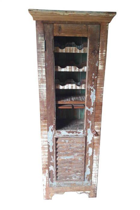 Bar Rústico Merlot em Madeira de Demolição - Cód 2197 - Bancos e Banquetas - Madeira de Demolição - Barrocarte
