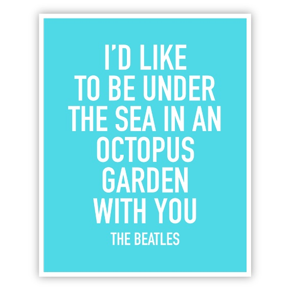 Beatles Octopus Garden Print