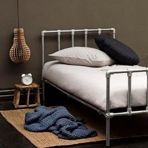 Lovely 'scaffolding' bed...made by Serendipity. Cute bed