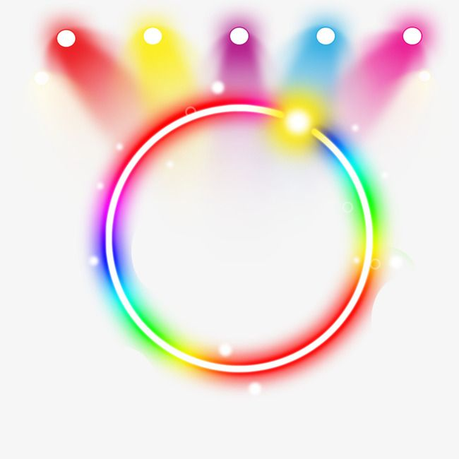 Neon Ring Light Effect Annular The Neon Lights Colour Png And Psd Neon Lighting Light Effect Neon