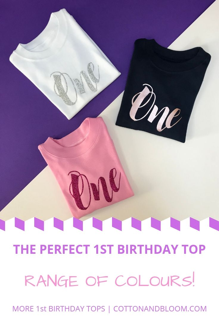 GREAT GIFT 1st BIRTHDAY DESIGNS WITH VARIOUS PRINT COLOURS 1