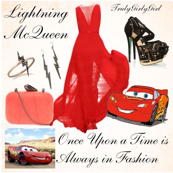 """Disney Style: Lightning McQueen"" by trulygirlygirl on Polyvore"