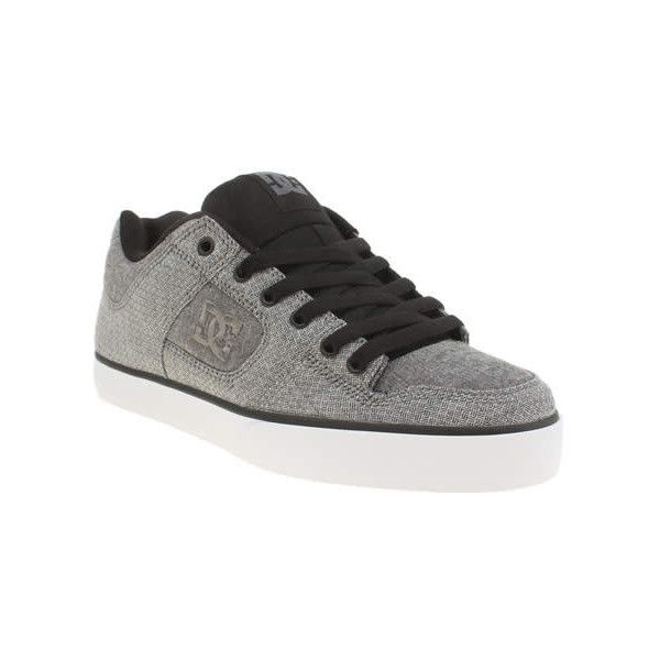 Dc Shoes Grey & Black Pure Tx Se Trainers ($85) ❤ liked on Polyvore featuring men's fashion, men's shoes, men's sneakers, mens grey sneakers, mens black sneakers, mens black shoes, mens grey shoes and mens gray dress shoes