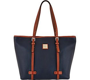 Dooney & Bourke Pebble Leather Shopper Handbag