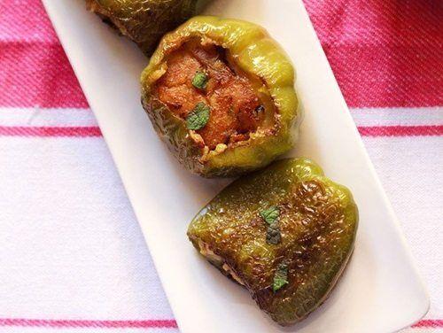 stuffed capsicum recipe or bharwan shimla mirch recipe