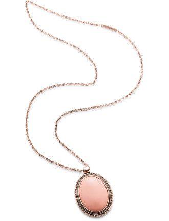 Aaliyah Necklace - Pawpaw/rose gold