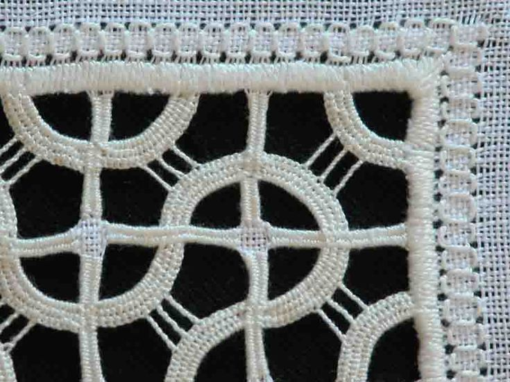 Detail of a reticello I embroidered from a pattern by Maria Del Popolo.