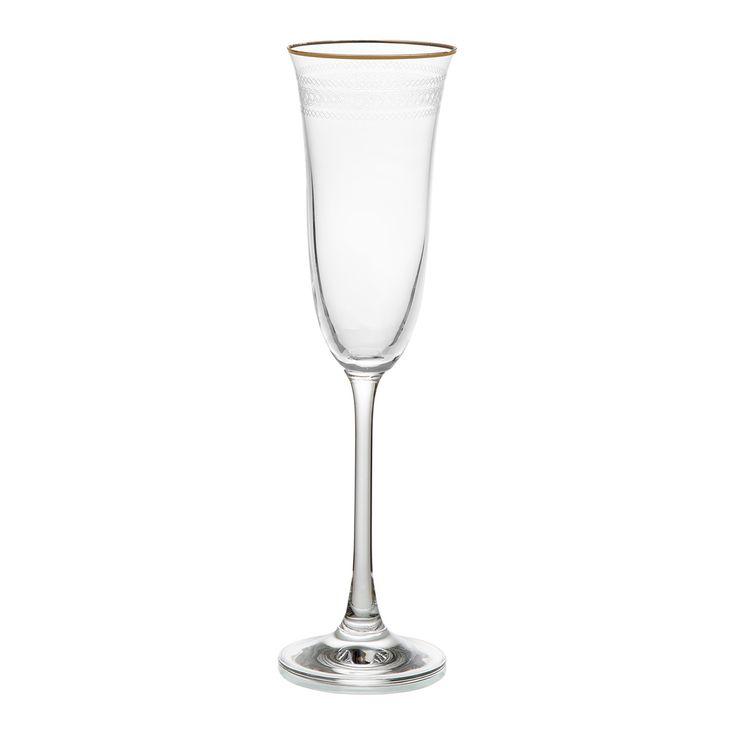 Copa de Champán Royal Filo Oro **por EL CORTE INGLÉS - Para la Mesa en Navidad -> Menaje de Mesa -> Cristalería • For the Christmas Table -> Tableware -> Glassware | El Corte Inglés