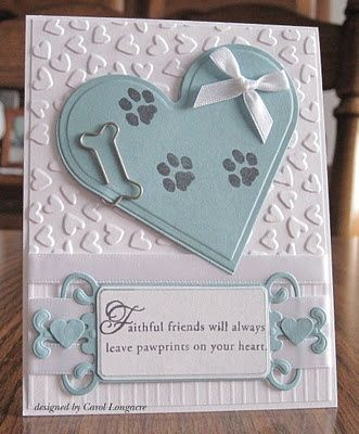 very sweet sympathy card for loss of dog (love this!)