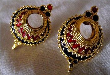 Indian Assamese Jewellery Keru Earrings by RamdhenuEmporium, $21.00