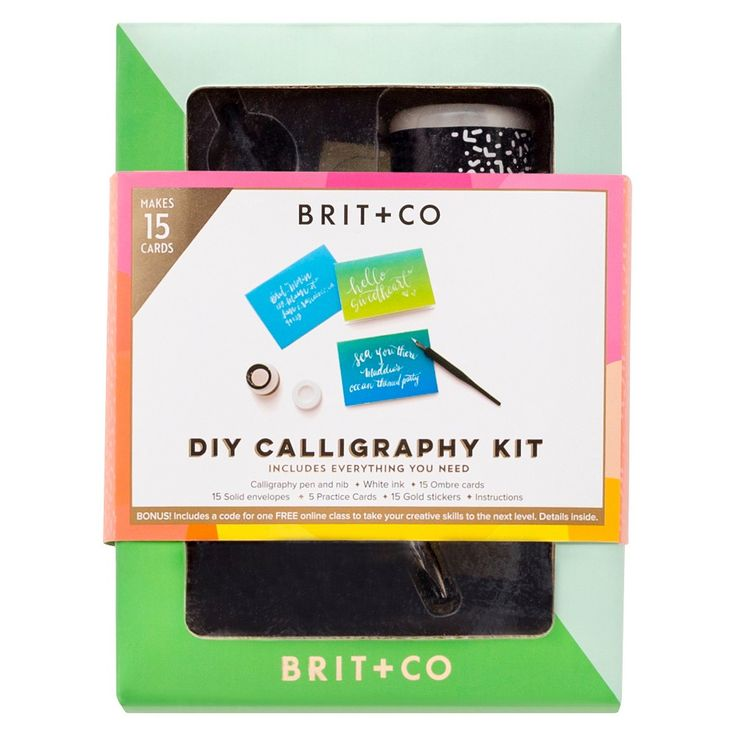 Brit + Co Diy Calligraphy Kit - Makes 15