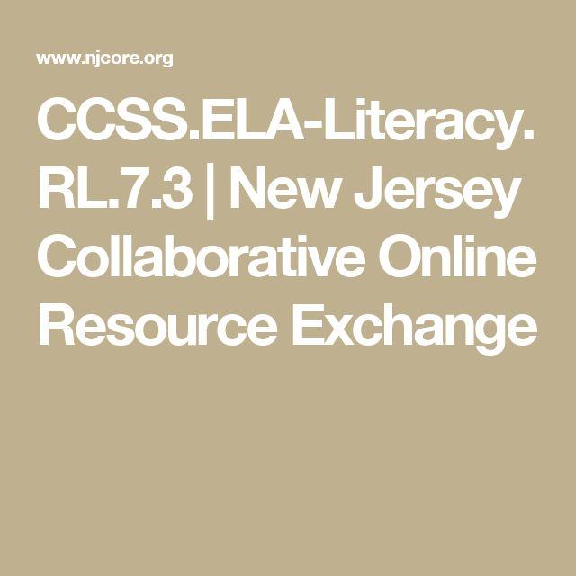 CCSS.ELA-Literacy.RL.7.3 | New Jersey Collaborative Online Resource Exchange