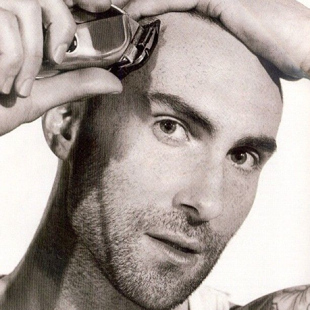 Adam Levine using Wahl Clippers in the Details Magazine July (2012) issue