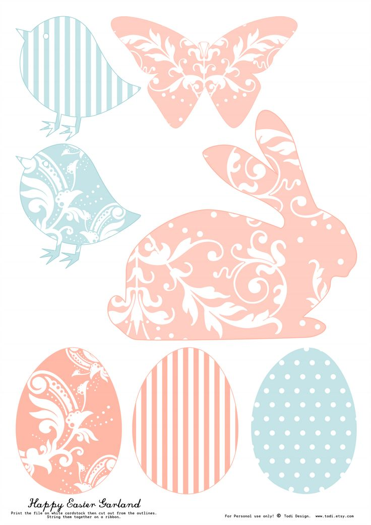todi: Free Printables for Easter Decoration. Th print used for this rabbit silhouette is darling.