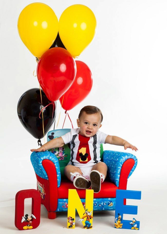mickey mouse first birthday | MICKEY MOUSE 1st BIRTHDAY} Hand-Painted Mickey Letters