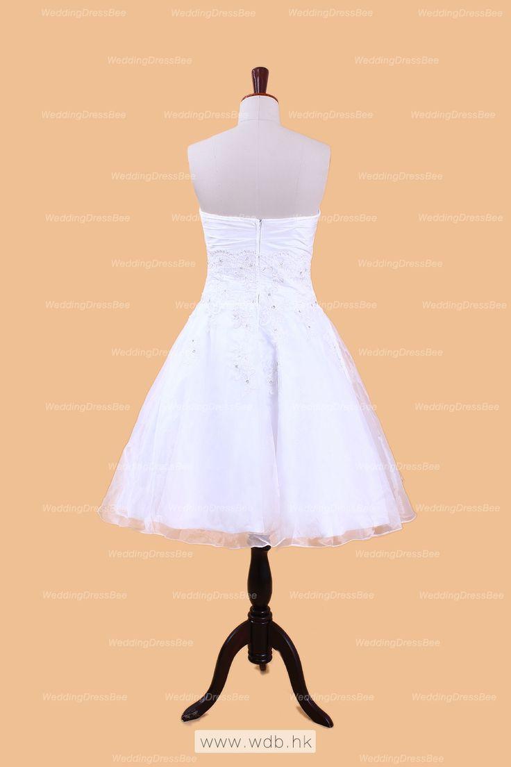"""""""Jeweled Lace Organza Little White Dress $152.49"""""""