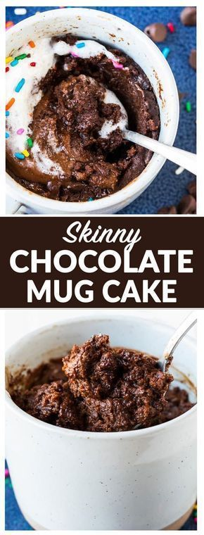 This Healthy Chocolate Mug Cake is INCREDIBLE! Easy and ultra moist with a molten, gooey center. Made with peanut butter, Greek yogurt, and dark chocolate, this is the BEST chocolate cake in a mug and it's guilt-free! Cooks in just 90 seconds in the microwave. #chocolatemugcake #healthy via @wellplated #healthychocolatecake