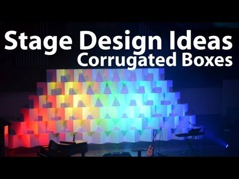 ▶ Church Stage Design Ideas : Corrugated Boxes - YouTube