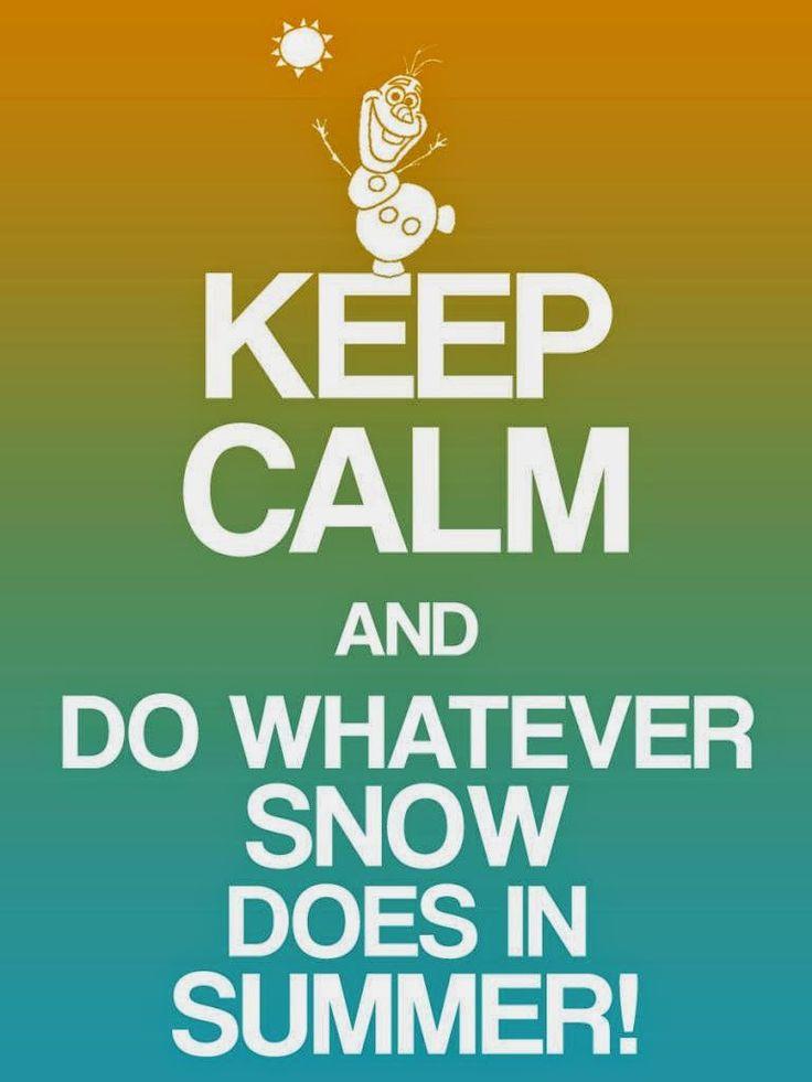 Bevroren: Blijf kalm Gratis Printable tekenen.