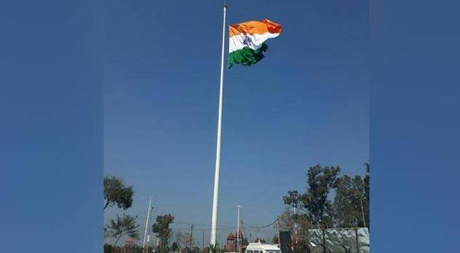 Chandigarh: A Tricolour was on Sunday hoisted on a flag mast, said to be the country's tallest, 323 metres from the India-Pakistan border at Attari. The flag was unfurled at a height of 355 feet from the base — which is five feet high. Add to it another 10 feet, where an aviation light stands,...