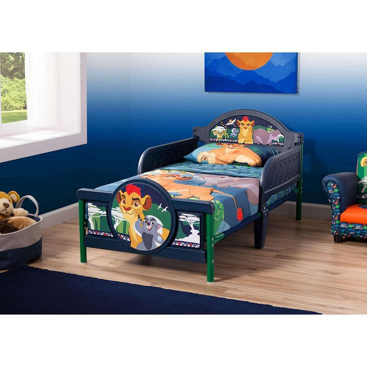 Your Pride And Joy Will Be On The Prowl For Nightly Adventures In Dreamland With This Disney Jr Lion Guard Toddler Bed From Delta Children